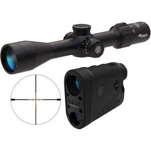 SIG Sauer BDX Combo Kit Kilo1800BDX/SIERRA3 4.5-14x44 Range Finder and Rifle Scope Illuminated BDX-R1 Digital Reticle Ballistic Data Xchange Black