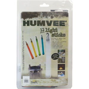 HUMVEE Lightsticks 12 Pack Assorted Colors HMV-6-FP12