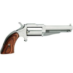 """NAA 1860 The Earl Single Action Revolver .22 Magnum 3"""" Barrel 5 Rounds Wood Grips Stainless Finish NAA-1860-3"""