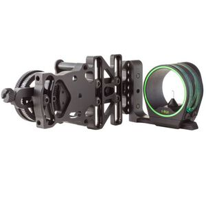 Trijicon AccuPin Dual Illuminated Bow Sight Green Triangle with AccuDial Left Hand Mount Matte Black Finish BW51G-BL