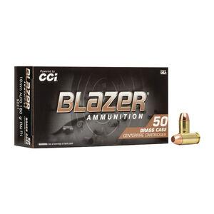 Blazer Brass 10mm Auto 180 Grain FMJ Brass 1200 FPS 50 Rounds