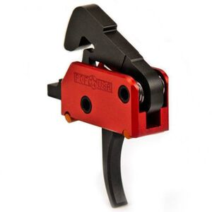 POF AR-15 Drop-In Trigger, Single-Stage, 4.5 lb Pull, Curved, Red/Black 00457