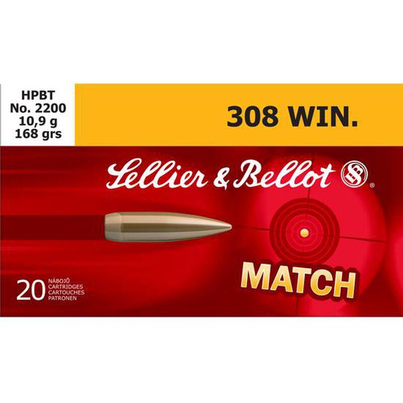 Sellier & Bellot Match .308 Winchester Ammunition 168 Grain HPBT 2628 fps