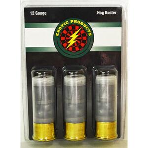 """Exotic Hog Buster 12 Gauge Ammunition 3 Rounds 2.75"""" 1oz Lead Slug With 00 Buck Shot 00007"""