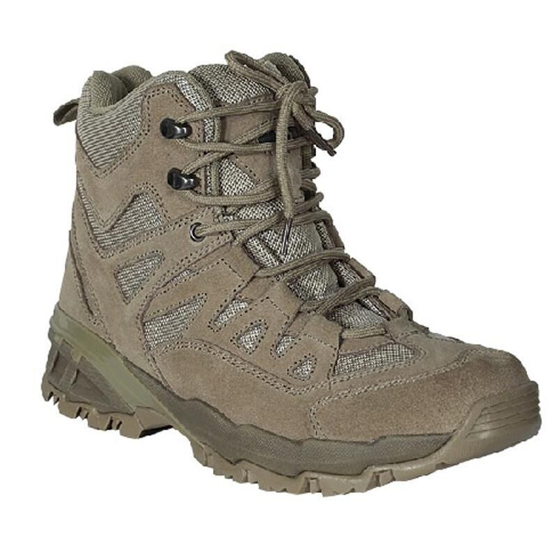 "Voodoo Tactical 6"" Tactical Boot Nylon/Leather Size 12 Wide Khaki Tan 04-968083192"