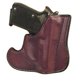 Don Hume Front Pocket GLOCK 43 Holster Ambidextrous Leather Brown J100306R