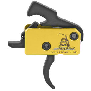 Rise Armaments Curved Super Sporting Trigger AR15 Drop-In Single-Stage 3.5 lb Pull Anti-Walk Pins DTOM Logo