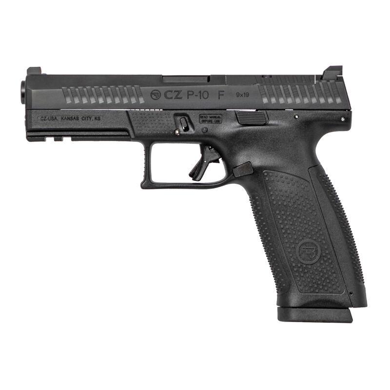 "CZ P-10 F Full Size Optics Ready 9mm Luger Semi Auto Pistol 4.5"" Barrel 19 Rounds Night Sight Fiber Reinforced Polymer Frame Matte Black Finish"