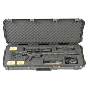 "SKB iSeries 4214 AR Rifle Case 42.50"" x 14.50"" x 5.50"" Custom Foam Interior Latch Closure Carry Handle Waterproof Hard Shell Polymer Matte Black 3i-4214-AR"