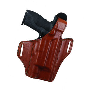 Bianchi Allusion Model 140 The Reveal Belt Holster Right Hand Fits GLOCK 17/22 with Light Leather Tan