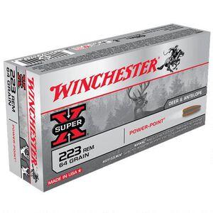 Winchester Super-X .223 Rem Ammunition 64 Grain Power-Point JSP 3020 fps