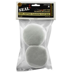 Seal 1 Cotton Cleaning Patches 12/16 Gauge 100 Count