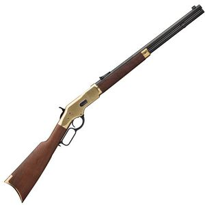 "Winchester 1866 Yellowboy Lever Action Rifle 38 Special 20"" Barrel 11 Rounds Brass Frame Walnut Stock Blued"