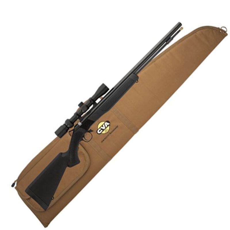 CVA Wolf Muzzleloader Rifle with KonusPro 3-9×32 Scope and Case Combo Break  Action In-Line  50 Caliber 209 Primer Ignition 24