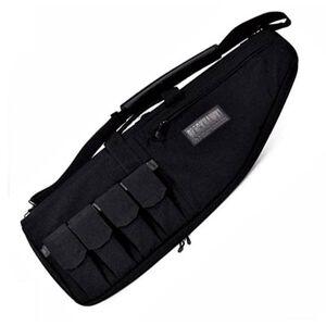 "BLACKHAWK! 37"" Rifle Case with External Mag Pouches Black 64RC37BK"