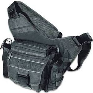 Multi-Functional Tactical Messenger Bag Black Leapers UTG Quick Release Buckle Metal Zippers Adjustable Straps