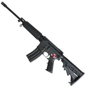 "Bushmaster QRC AR-15 Semi Auto Rifle 5.56 NATO 16"" Barrel Binary Firing System 30 Rounds Optics Ready Collapsible Stock Black"