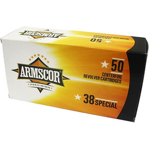 Armscor Precision .38 Special Ammunition 50 Rounds 158 Grain Lead RNFP 891fps