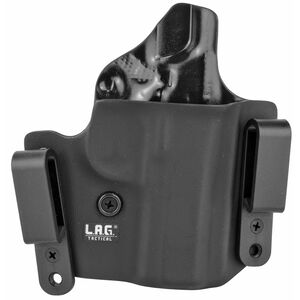 "LAG Tactical Defender Series OWB/IWB Holster for 3"" Barrel 1911 Models Right Hand Draw Kydex Construction Matte Black Finish"