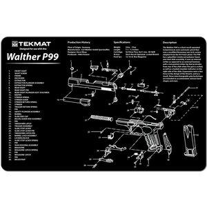 "TekMat ""Walther P99"" Armorers Bench Mat 11""x17""x1/8"" Neoprene 17-WALP99"
