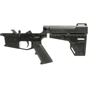 New Frontier C-9 AR-15 Pistol Complete Lower Receiver Assembly 9mm Luger Multi-Caliber Marked Uses GLOCK Style Magazines Billet Aluminum Mil-Spec LPK Shockwave Blade Pistol Brace Black