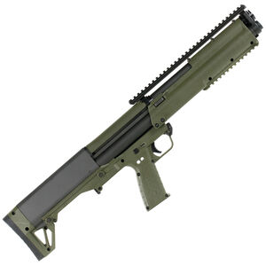 "Kel-Tec KSG Pump Action Shotgun 12 Gauge 18.5"" Barrel 3"" Chamber 12 Rounds Dual Tube Magazines Downward Ejection Ambidextrous Synthetic Stock OD Green Finish"