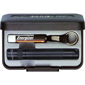 Maglite Solitaire Flashlight 2 Lumens AAA Battery Twist Switch Key Chain Mount Aluminum Black Presentation Box K3A012