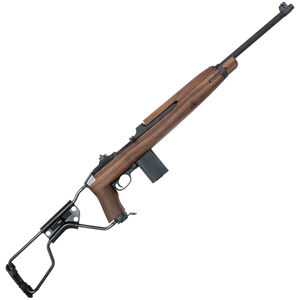 "Auto-Ordnance Airborne WWII M1 Carbine Semi Auto Rifle .30 Carbine 18"" Barrel 15 Rounds WWII Tribute Engraved Walnut Para-Trooper Side Folding Stock Parkerized Finish"