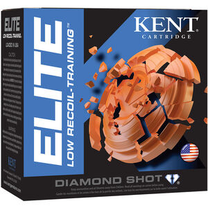 "Kent Cartridge Elite Low Recoil-Training 12 Gauge Ammunition 2-1/2"" Shell #8 Diamond Shot 3/4 oz 1200fps"