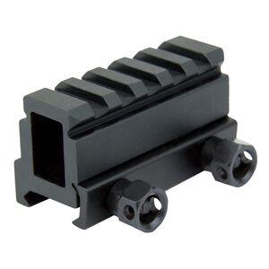 "TacFire AR-15 Compact 1.1"" Extra High Riser Mount Picatinny Aluminum Black MAR028"