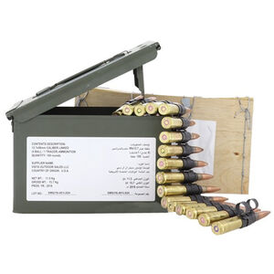 Federal .50 BMG Linked Ammunition 100 Rounds M33 661 Grain Full Metal Jacket / M17 Tracer 618 Grain Tracer Metal Ammo Can