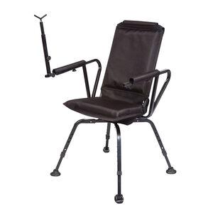 BenchMaster Sniper Seat Shooting Chair Full Swivel Gun Rest Black BMSSSC
