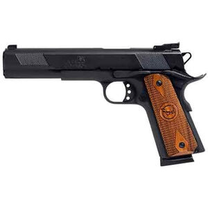 "Iver Johnson Eagle XL 1911A1 Full Size Semi Auto Handgun .45 ACP 6"" Barrel 8 Rounds Walnut Grips Blued Finish GIJ25"