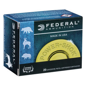 Federal Power-Shok .44 Magnum Ammunition 20 Rounds SJHP 240 Grains C44A