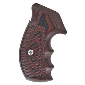 VZ Grips Tactical Diamond Grip Set For Smith&Wesson K/L Frame Round Butt G-10 Black Cherry