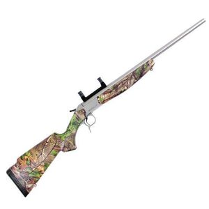 "CVA Scout V2 Standard Model Single Shot Rifle .44 Remington Magnum 22"" Barrel 1 Round Scope Mount Synthetic Stock Realtree Xtra Green Stainless Steel CR4432S"
