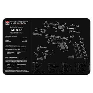 """TekMat Gun Accessories GLOCK 42/43 Schematic 15""""x20"""" Gun Cleaning Mat Black"""