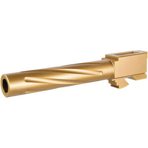 Rival Arms Barrel for GLOCK 17 Gen 5 9mm Luger Fluted Gold PVD