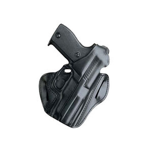 DeSantis F.A.M.S. Belt Holster With Lock Hole For GLOCK/S&W Compact 9/40 Right Hand Leather Black 01LBAE1Z0