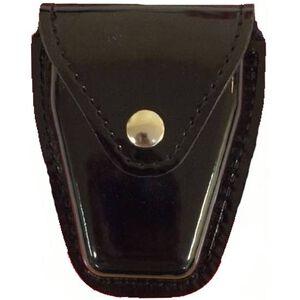 Safariland Model 190 Handcuff Pouch Chain Cuffs Top Flap Brass Snap SafariLaminate High Gloss Black 190-9B