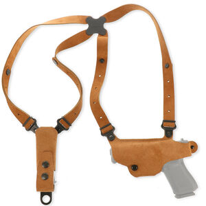 Galco Classic Lite Shoulder System Fits Ruger P85, P89, P90and Similar Left Hand Leather Natural