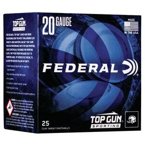 "Federal Top Gun Sporting 20 Gauge Ammunition 2-3/4"" Shell #7.5 Lead Shot 7/8 oz 1250 fps"