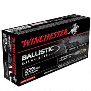 Winchester Silvertip .223 Rem Ammunition 200 Rounds, BST, 55 Grains