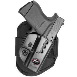 Fobus Ankle Holster GLOCK 43 Right Hand Draw Polymer Shell/Cordura Pad with Velcro Strap Matte Black Finish