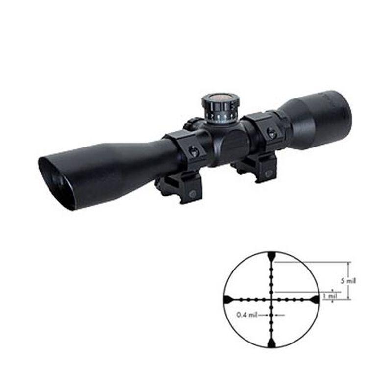 TRUGLO 4x32mm Tru-Brite Xtreme Tactical Compact Riflescope Mil-Dot Reticle ¼ MOA Non-Reflective Matte Finish Includes Rings Warranty