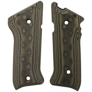 Hogue Ruger MK II/MK III Extreme G-10 Grips Checkered G-Mascus Green 82178