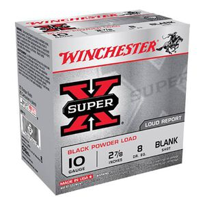 "Winchester 10 Gauge Black Powder Blank Load 2-7/8"" 25 Rounds XBP10"