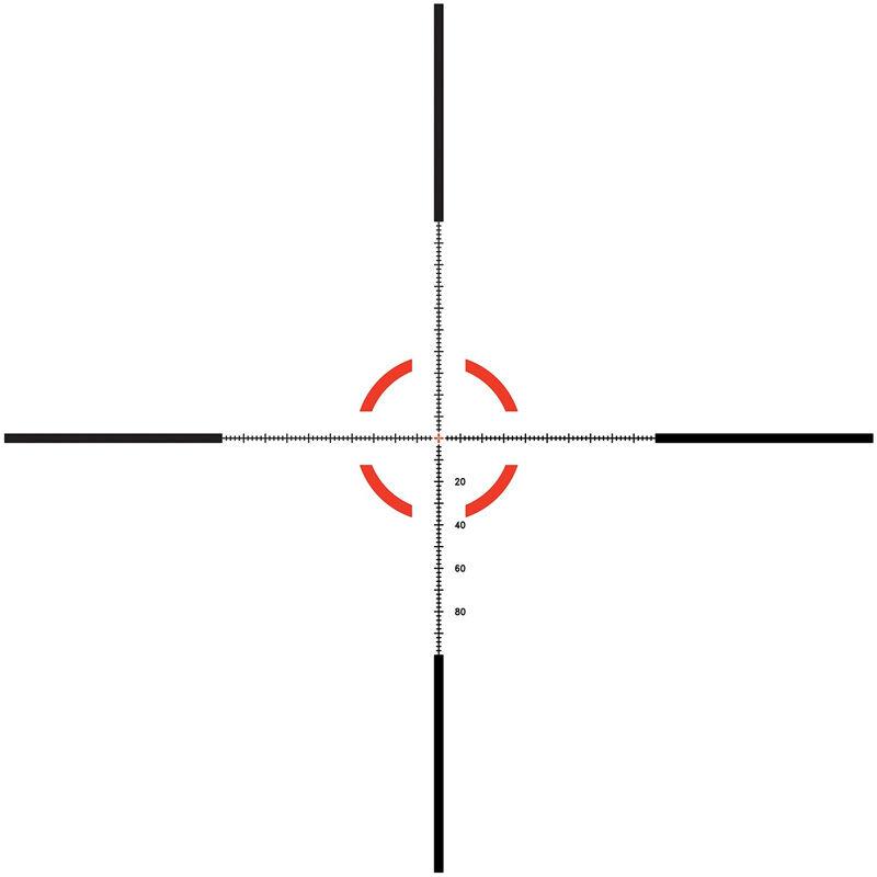 Trijicon Credo HX 1-8x28 Riflescope With Red And Green MOA Segmented Circle Reticle MOA Adjustment 34mmTube Black