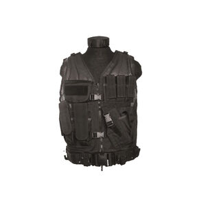 Mil-Tec USMC Combat Vest With Belt Black 10720002