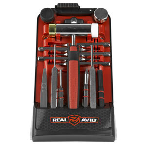 Real Avid AR15 Punch Kit with Accu-Punch Hammer AR15 Punches Set and Pin Alignment Tool AVHPS-AR